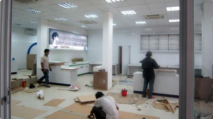 Thi công lắp đặt nội thất văn phòng - Nội thất R.O.F
