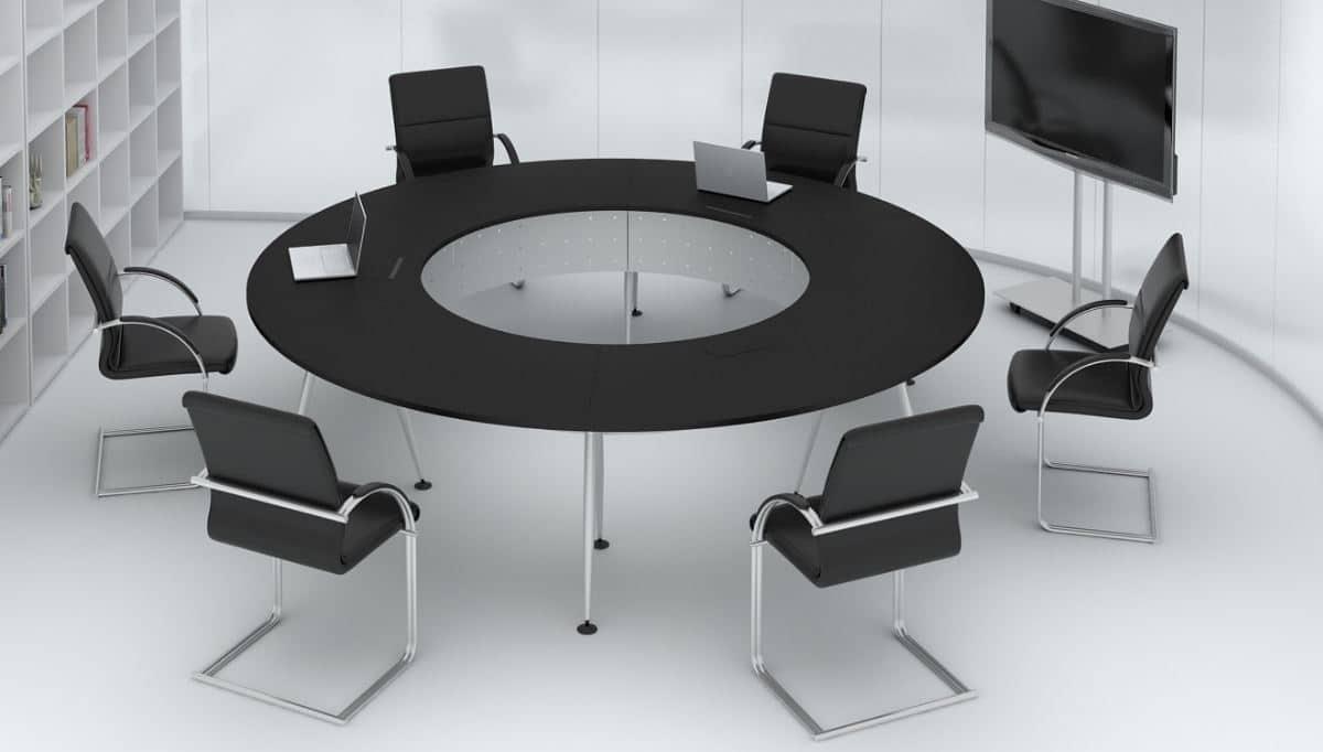cách bố trí bàn ghế phòng hội nghị hình tròn