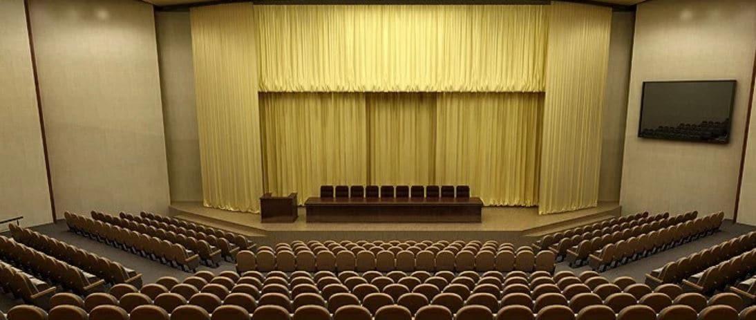 Phong cách setup phòng họp kiểu Theater ấn tượng