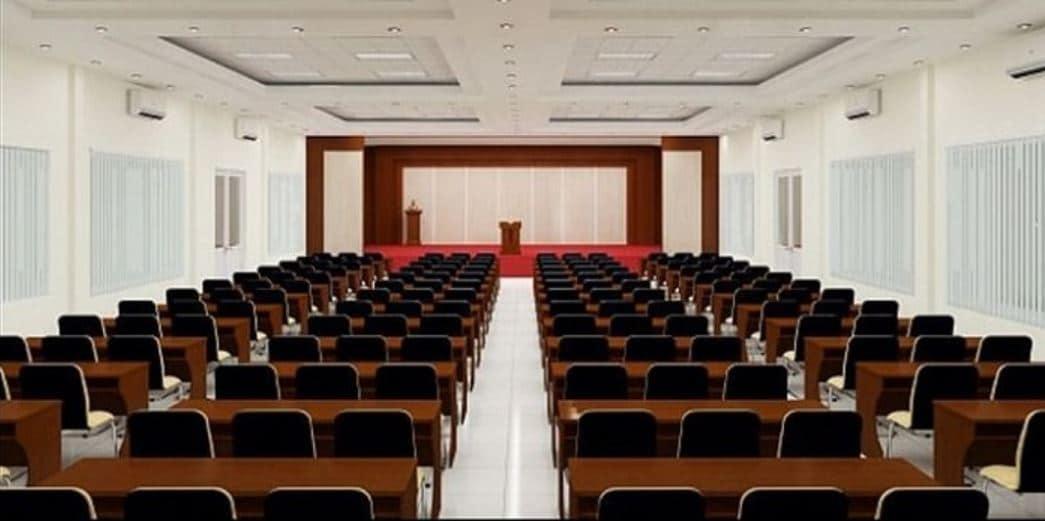 Kiểu sắp xếp phòng họp theo dạng lớp học
