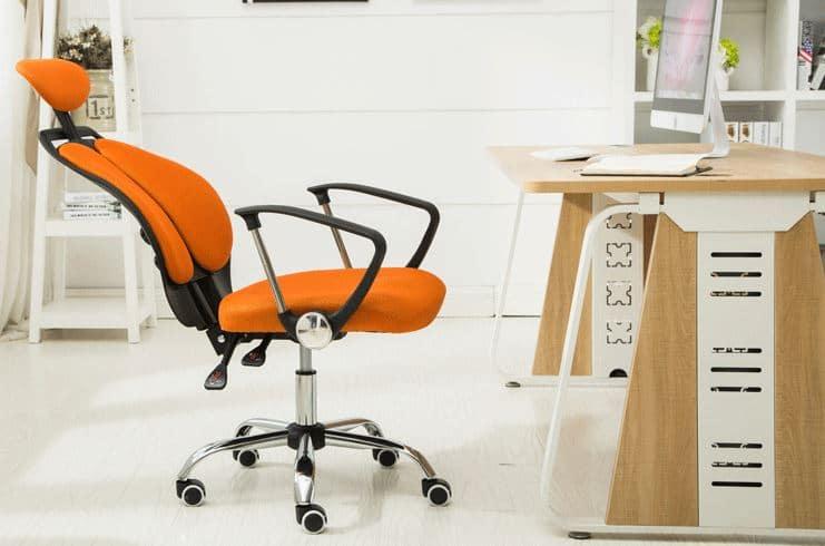Ghế xoay văn phòng màu cam cho người mệnh thổ